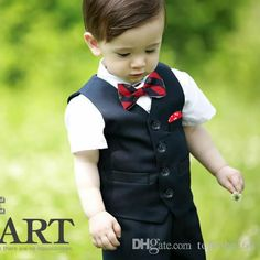 Wedding Outfits For Ladies Boy'S Formal Wear Tuxedo For Boy Little Boys Suit Black Dress Shorts Suit Outfit Clothing For BoysVest+Pants+Bow Tie Q144 Kids Dress Suits From Toprobe168, $47.25| Dhgate.Com