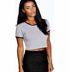 boohoo Abbie Contrast Binding Jersey Crop - grey marl These colour block crop tops are the best way to bring your basics up to date this season. Well be wearing them under an oversized shirt with ripped jeans and slip ons . http://www.comparestoreprices.co.uk/womens-clothes/boohoo-abbie-contrast-binding-jersey-crop--grey-marl.asp