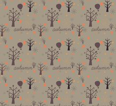 Free Autumn Tree Vector Pattern Free Vector Vector Pattern, Free Pattern, Autumn Trees, Autumn Inspiration, Free Vector Art, Damask, Backdrops, Ornament, Surface