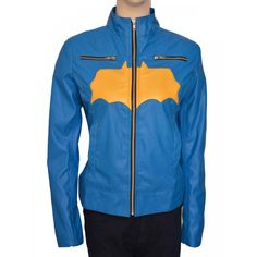 Delicate Yellow Batgirl Logo Blue Leather Jacket | Women jackets#leatherjackets #leatherjacket #leather #leatherjacketseason #leatherjacketswag #leatherjacketweather #leatherjacketph #fashion #leatherjacketsforwomen #leatherfashion #jackets #style #leatherjacketstyle #leatherjacketlove #hoodies #leatherjacketgang #leatherjacketmurah #leatherjacketsformen #leatherjacketformen #leatherjacketpainting #leatherjacketguy #leatherpants #leatherjacketforsale #leatherjacketclub #jacket… Distressed Leather Jacket, Black Leather Vest, Jackets Uk, Jackets For Women, Batgirl Logo, Leather Jackets For Sale, Vest Jacket, Yellow