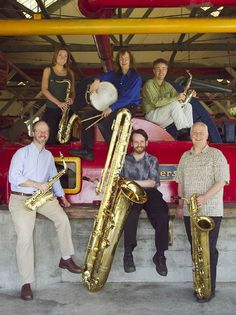 Family of saxophones... I like the curved soprano in the righthand corner