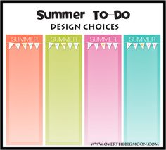 Summer To-Do List Printables - List of fun activities to do this summer!