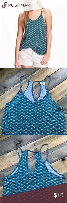 Old Navy Relaxed Fit Keyhole Tank Tunic Worn once, super comfy! Features keyhole and a high-neck back design. Perfect for summer -- lightweight and airy! Old Navy Tops Tank Tops