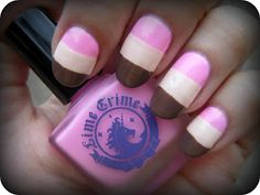 Concrete and Nail Polish: Lime Crime Parfait Day & Neapolitan Ice Cream Nails!