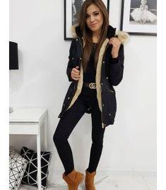 Zimná dámska párka bunda Venus čierna Parka, Black Jeans, Fashion, Moda, Fashion Styles, Black Denim Jeans, Fashion Illustrations, Parkas