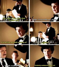 "Sherlock trying to surprise John but completely failing! Haha John was much to distracted to even notice his ""dead"" best friend standing right next to him"