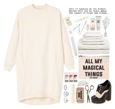 """All My Magical Things"" by wxlfie ❤ liked on Polyvore featuring Monki, Topshop, Jeffrey Campbell, Welspun USA, Forever 21, AERIN, Margaret Dabbs, Deborah Lippmann, Narciso Rodriguez and OKA"