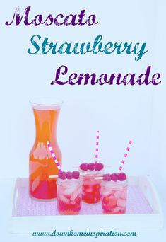 Seriously, how did I not know this existed?!  Sounds amazing!  Moscato Strawberry Lemonade - Down Home Inspiration