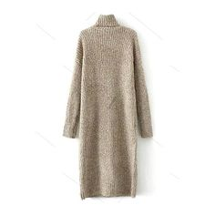 Turtle Neck Tweed Long Sweater Dress (900 UAH) ❤ liked on Polyvore featuring dresses, turtle neck dress, turtleneck dress, long length sweater dresses, long dresses and long-sleeve turtleneck dresses