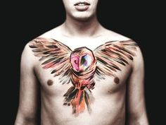 Cool owl across chest!