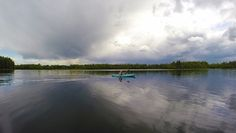 Kayaking on Chena Lake - Chena Lake is a great place to see some wildlife while you paddle around enjoying the evening air. Photo by Sherman Hogue