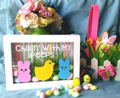 Check out this item in my Etsy shop https://www.etsy.com/listing/224575425/chillin-with-my-peeps-easter-shadow-box