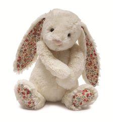 Jellycat Medium Bashful Blossom Cream Bunny at DadaBabyBouitque.com $20.00