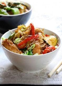Sauté asiatique légumes et poulet - Recettes du Québec