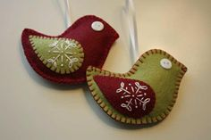 Gorgeous handsewn Christmas decorations from: workshops at Kiss The Fish