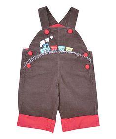 Look what I found on #zulily! Brown Train Corduroy Overalls - Infant, Toddler & Girls #zulilyfinds