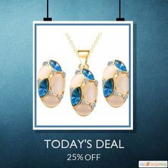 Today Only! 25% OFF this item.  Follow us on Pinterest to be the first to see our exciting Daily Deals. Today's Product: Abco... Store Brand Design Cute Opal Jewelry Sets Pendant Necklaces Earrings Crystal Jewelry Buy now: http://abcostore.in/products/brand-design-cute-opal-jewelry-sets-pendant-necklaces-earrings-for-women-wedding-color-crystal-jewelry-parure-bijoux-femme?utm_source=Pinterest&utm_medium=Orangetwig_Marketing&utm_campaign=Abco%20Store%20Weeakly%20Offer #musthave #loveit…