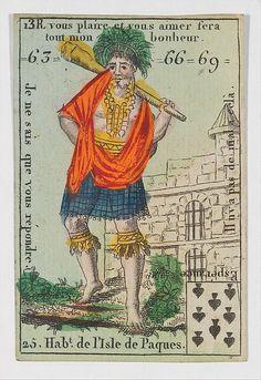 Hab.t de l'Isle de Paques from Playing Cards (for Quartets) 'Costumes des Peuples Étrangers'