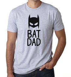 Bat Dad • Batman • Mens • Heather Gray • Athletic Fit • T Shirt • Father • Gift Idea by KindredFeathers on Etsy https://www.etsy.com/listing/260733030/bat-dad-batman-mens-heather-gray