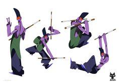 orangeblue: purple explosion characters 1