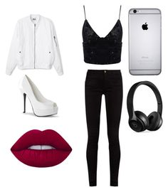 """""""A Night Out"""" by loveguerdine ❤ liked on Polyvore featuring Gucci, Beats by Dr. Dre and Lime Crime"""