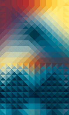 #pattern #colors #triangles #squares