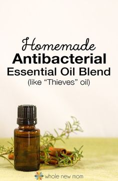 Need a Solution for staying well and boosting immunity? This DIY Antibacterial / Antifungal Essential Oils Blend (like Thieves®) is easy to make and cheaper than buying the pre made blend. - Great to use for cleaning your home too. Make this Antibacterial Essential Oil Blend at home and heal yourself and clean your home--naturally!