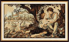 >> Click to Buy << The Swan lake and the lovers patterns Counted Cross Stitch Diy 11CT 14CT Cross Stitch Set Wholesale Embroidery Needlework VB620 #Affiliate