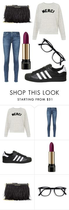 """""""Untitled #9465"""" by ohnadine ❤ liked on Polyvore featuring Whistles, AG Adriano Goldschmied, Topshop, Lancôme and Juicy Couture"""