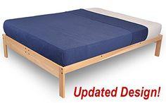 Nomad-2 Platform Bed Frame - Solid hardwood (King-PLUS)