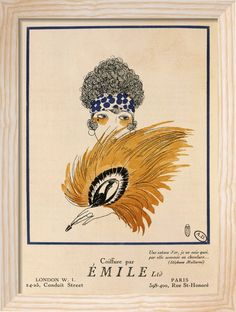 Coiffure par Emile (Hairdressing by Emile) Art Print by Anonymous at King & McGaw