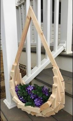 Excited to share the latest addition to my shop Eccentric handmade teardrop wood basket for hanging plants Easter Mothers Day magazines towels fruit garden Scrap Wood Projects, Woodworking Projects, Woodworking Bench, Wood Basket, Wooden Planters, Pallet Planters, Hanging Pots, Hanging Gardens, Fruit Garden