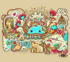 Doodle explosion by helenesse.deviantart.com on @deviantART