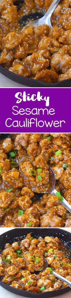 I make this recipe at least once a week, and we're not even vegan! The sauce of this sticky sesame cauliflower is delicious!