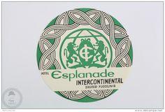 Hotel Esplanade Intercontinental, Zagreb - Yugoslavia - Original Hotel Luggage