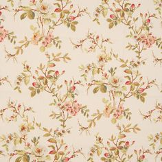 Secret Garden Curtain Fabric | Rose | Low Prices | UK Delivery