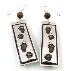 Bear Tracks Earrings by Kris Kramer Designs