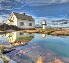 Stangholmen Lighthouse - Risør, Norway by Jan Kiese, via 500px