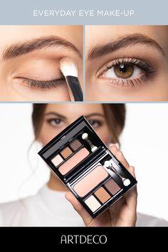 Simple and quick eye make-up Business makeup tip - Augen Make-up Glowy Makeup, Blue Eye Makeup, Contour Makeup, Dramatic Makeup, Eyeshadow Makeup, Natural Makeup Looks, Natural Make Up, Simple Makeup, Minimal Makeup