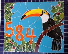 Número residencial em mosaico - Tucano