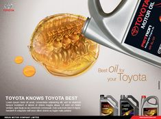Toyota general motor oil (TMGO) is a sub-brand of toyota motor corporation. i made print ads for its different campaigns Ads Creative, Creative Posters, Castrol Oil, Toyota, Advertising Industry, Brand Promotion, Oil And Gas, General Motors, Photoshop Tutorial