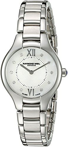 Women's Wrist Watches - Raymond Weil Womens Noemia Swiss Quartz Stainless Steel Dress Watch ColorSilverToned Model 5127ST00985 -- See this great product. (This is an Amazon affiliate link)