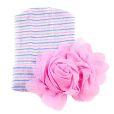 DZT1968 Baby Boy Girl Flower Soft Lovely Hat Newborn Baby Hats With Pretty Hats 26x18cm Hot Pink ** Be sure to check out this awesome product.