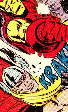 Thor vs, Iron Man by George Tuska & Mike Esposito - Iron Man #66 (Feb. 1977)