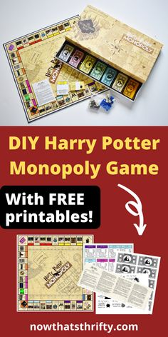 Do you like Harry Potter or know someone who does? Create this DIY Harry Potter Monopoly game using our FREE printables and step-by-step instructions. We offer free printables for Harry Potter Monopoly board, instructions, deed cards, money, and chance Monopoly Harry Potter, Carte Harry Potter, Harry Potter Bricolage, Harry Potter Cards, Harry Potter Classroom, Harry Potter Printables, Theme Harry Potter, Harry Potter Room, Harry Potter Gifts