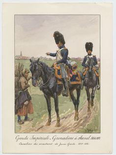 Garde Impériale - Grenadiers à cheval 1804-1815: Cavaliers des escadrons de Jeune-Garde - 1813-1814