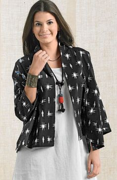 Renuka Jacket - Black/White