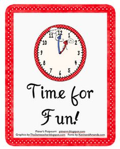 It's Time for Fun! -- Elapsed Time Freebie