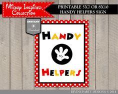 Handy Helper sign for student jobs