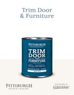 Try New Trim Door Furniture Paint By Pittsburgh Paints Stains At - Does menards deliver